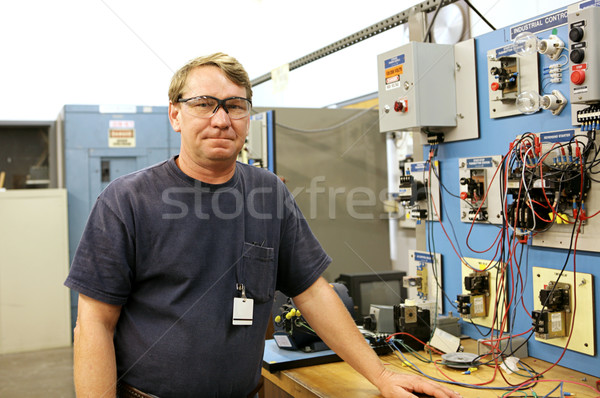 Electrician at Motor Control Board Stock photo © lisafx
