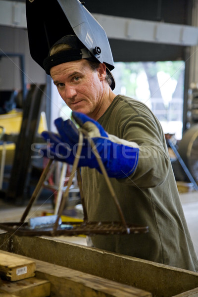 Factory Man Stock photo © lisafx