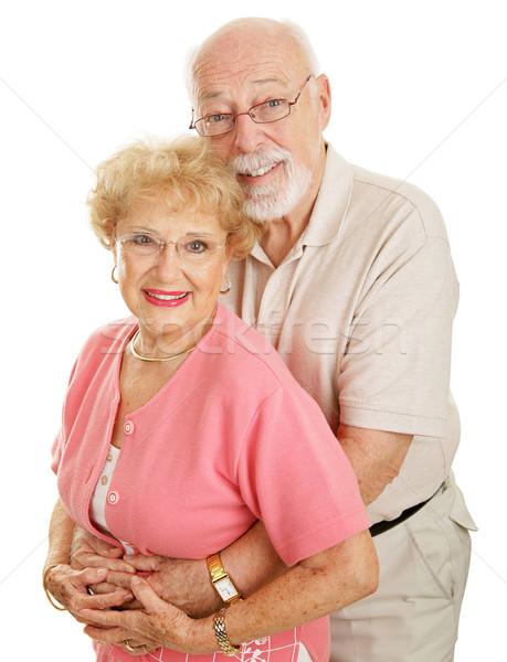 Stok fotoğraf: Optik · mutlu · yaşlılar · çekici