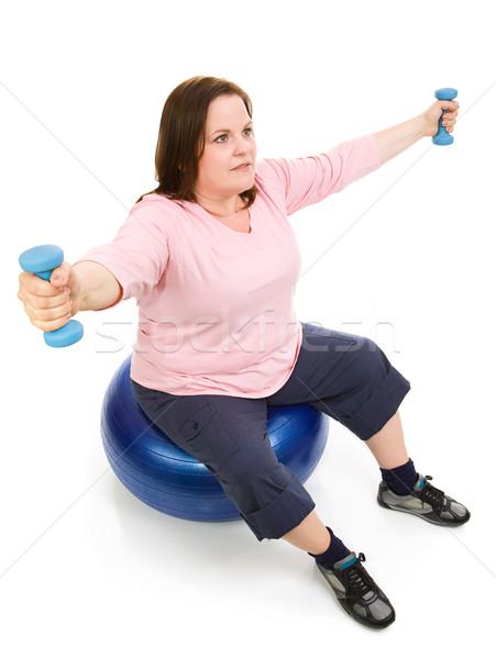 Plus Sized Pilates Workout Stock photo © lisafx