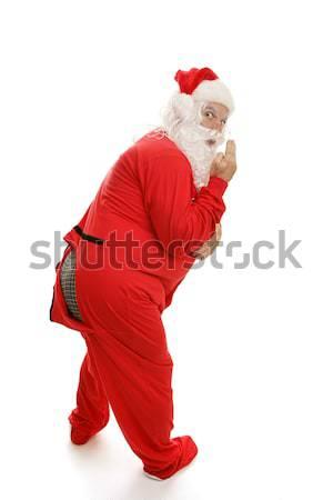 Santa in Pajamas - Ooops! Stock photo © lisafx