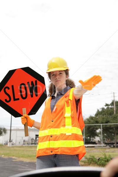 замедлять за колесо дороги экипаж член Сток-фото © lisafx