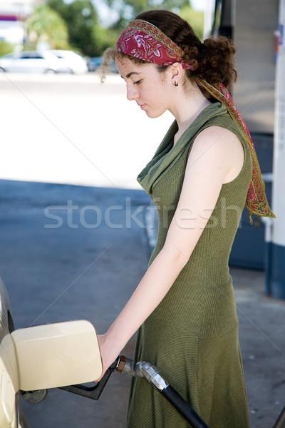 Teen Pumping Gas Stock photo © lisafx