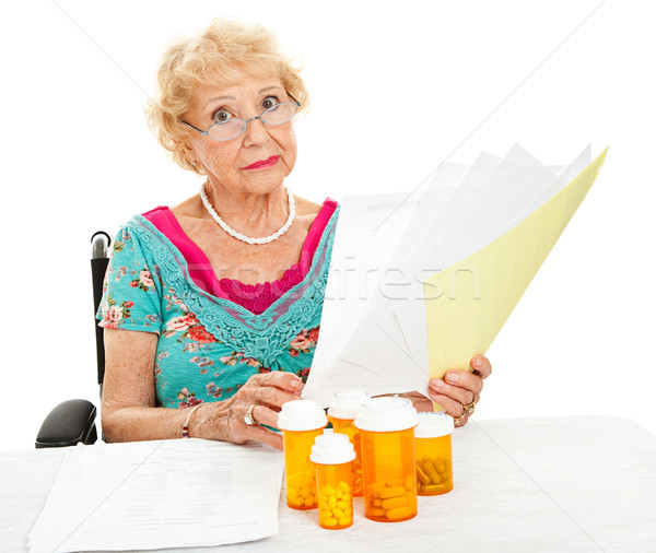 Disabled Senior Faces Medical Expenses Stock photo © lisafx