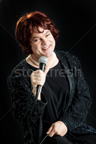 Female Impersonator Singing Stock photo © lisafx
