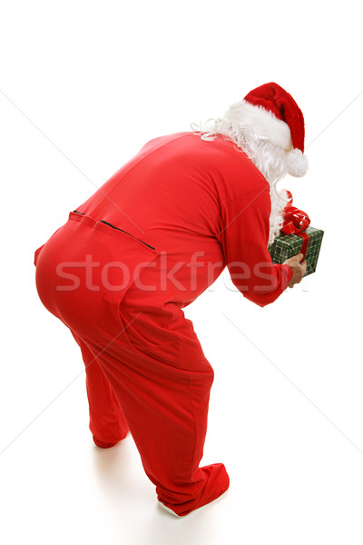 Bedtime Santa from Behind Stock photo © lisafx
