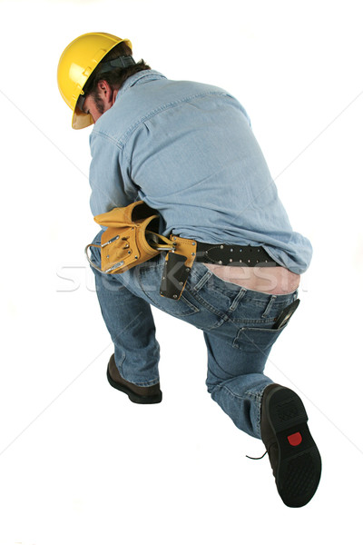 Bouw spleet bouwvakker butt man werk Stockfoto © lisafx