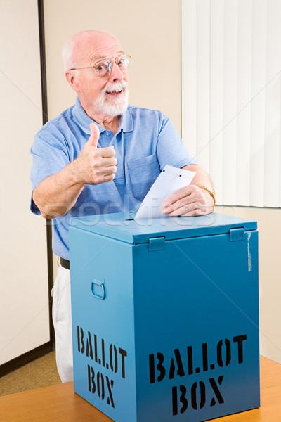 Election - Senior Thumbsup Stock photo © lisafx