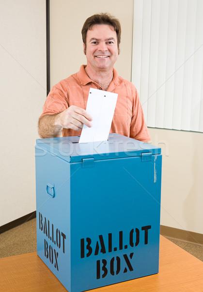 Elezioni bianco maschio elettore di mezza età Foto d'archivio © lisafx