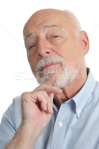 старший человека скептический красивый бизнесмен мужчин Сток-фото © lisafx
