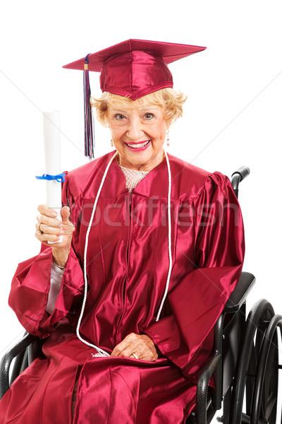 Nunca edad educación dulce altos dama Foto stock © lisafx