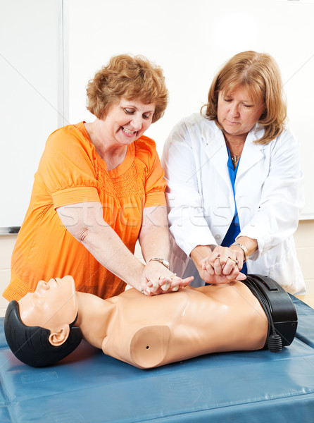 Adult Ed - Learning CPR Stock photo © lisafx