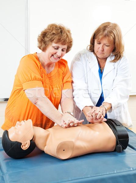 Adulte apprentissage médecin éducation des adultes étudiant Photo stock © lisafx