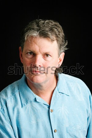 Handsome Middle-aged Man Serious Stock photo © lisafx