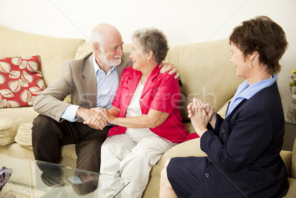Couples Counseling - Happy Outcome Stock photo © lisafx