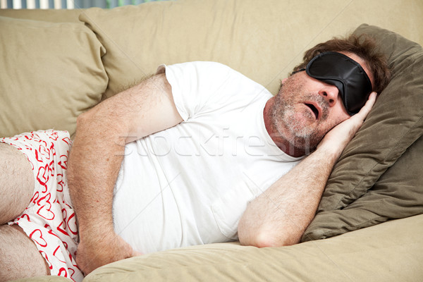 Couch Potato Snoring Stock photo © lisafx