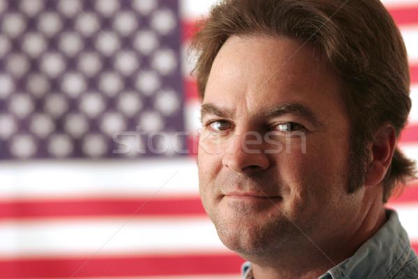 American Man Smiling Stock photo © lisafx