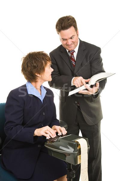 Tribunal reportero caso abogado jurídica Foto stock © lisafx