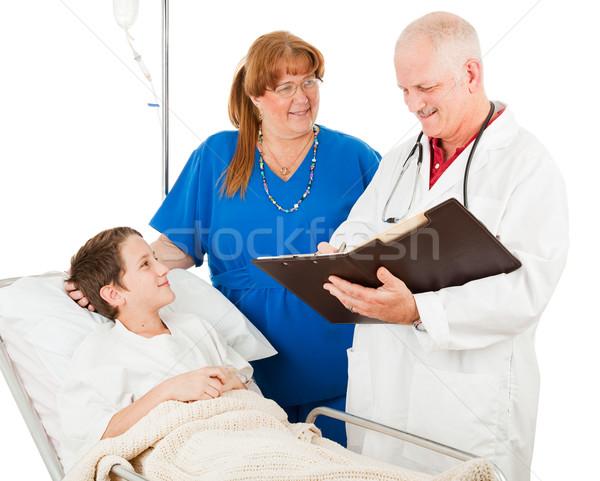 Pediatrician Reviews Chart Stock photo © lisafx