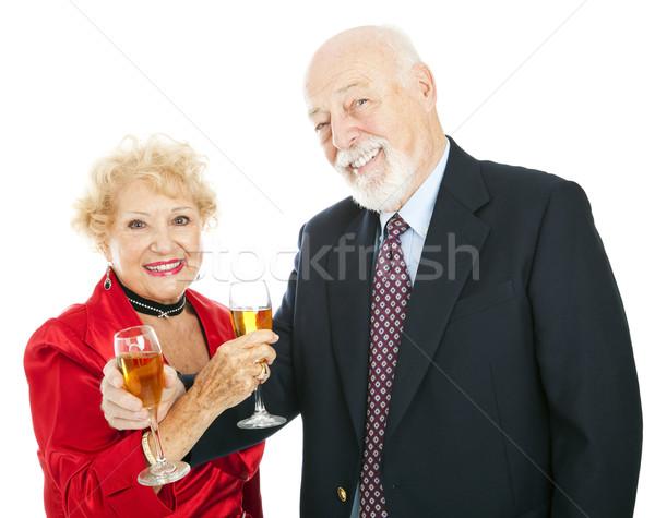 Сток-фото: старший · шампанского · празднования · счастливым
