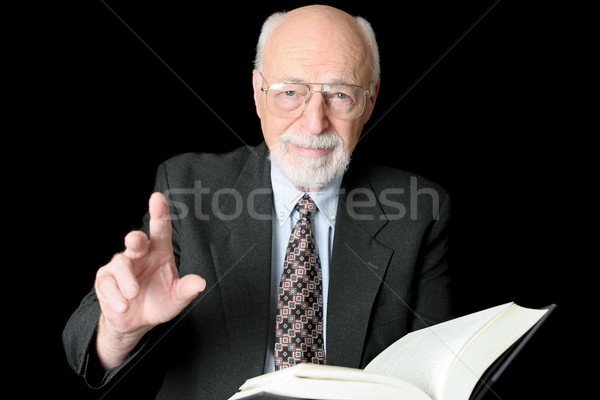 Teacher or Preacher Horizontal Stock photo © lisafx