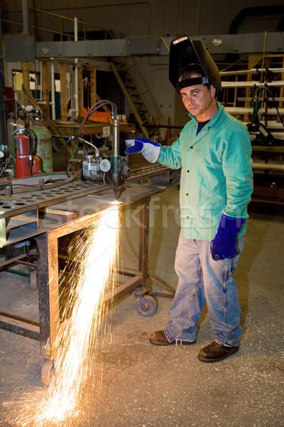 Track Burner in Metal Factory Stock photo © lisafx