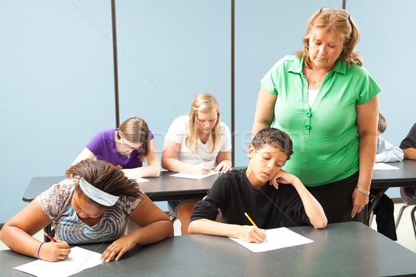 Stock photo: Teacher Monitors Standardized Test