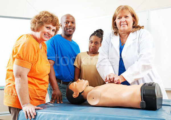 Adult Education Students Learning First Aid Stock photo © lisafx