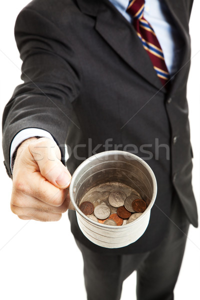 Recession - Businessman Panhandling Stock photo © lisafx