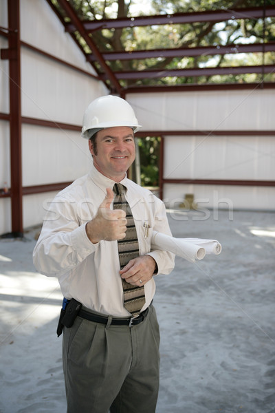Construction Inspector - Thumbs Up Stock photo © lisafx