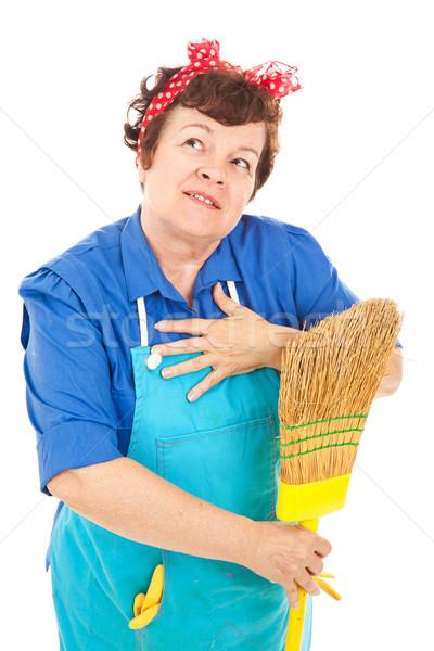 Fantasie aantrekkelijk huishoudster beter leven Stockfoto © lisafx