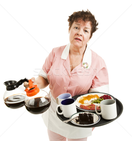 Overworked Waitress Stock photo © lisafx