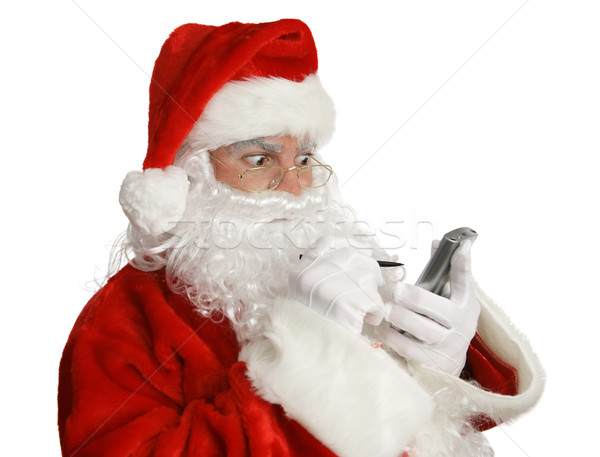 Santa Naughty List on PDA Stock photo © lisafx