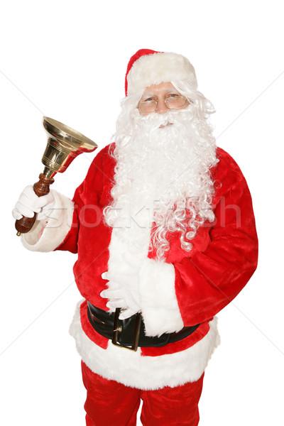 Santa Ringing Bell Stock photo © lisafx