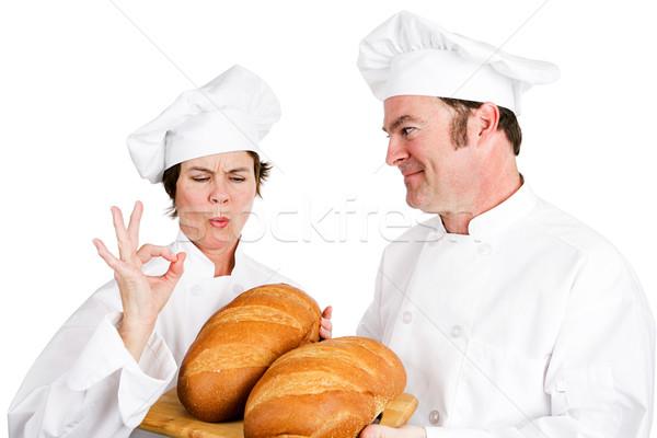 Chefs brood meester bakker chef stagiair Stockfoto © lisafx
