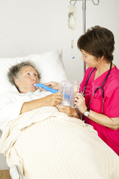 Stock photo: Respiratory Therapy in Hospital