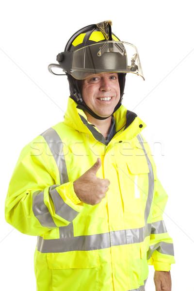 Friendly Fireman - Thumbsup Stock photo © lisafx