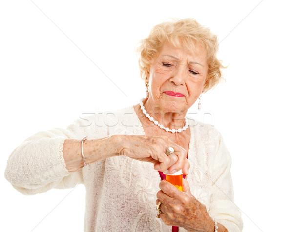 Struggling to Open Pills Stock photo © lisafx