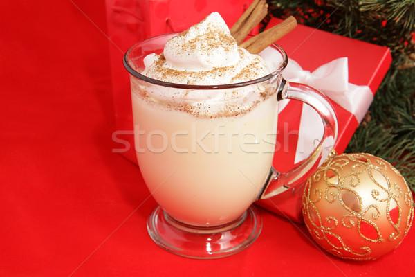 Christmas Eggnog & Copyspace Stock photo © lisafx
