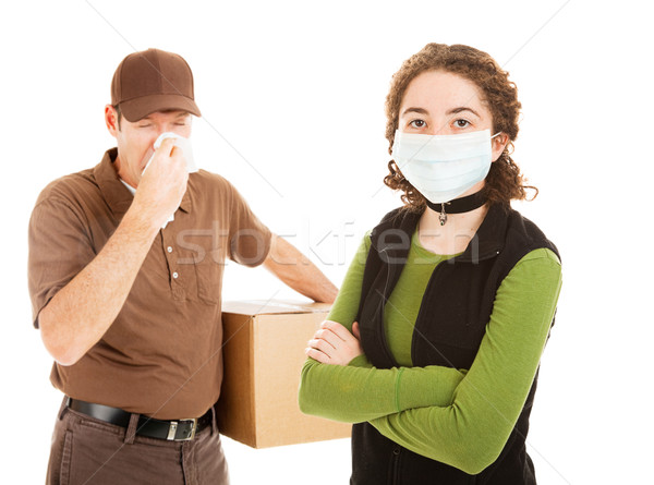 Delivering the Flu Stock photo © lisafx