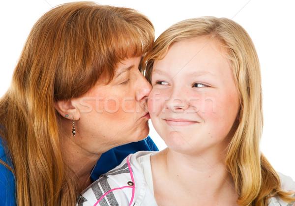 Mom Kisses Teen Daughter Stock photo © lisafx