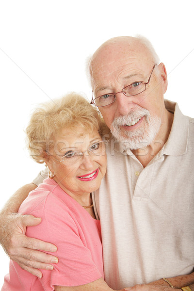 Stok fotoğraf: Optik · mutlu · yaşlılar · yeni