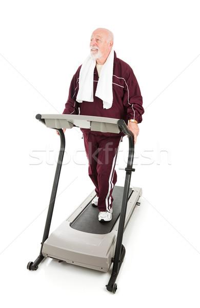 Senior Man Works Out Stock photo © lisafx