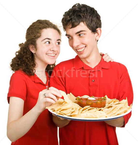Teen Couple - Snack Time Stock photo © lisafx