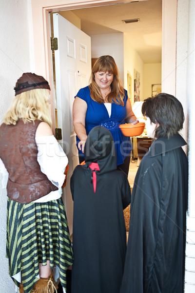 Halloween Goblins at the Door Stock photo © lisafx