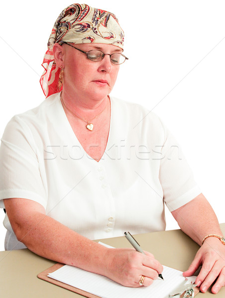 Chemotherapy Patient Back at Work Stock photo © lisafx