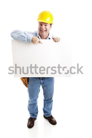 Construction Worker - On Strike Stock photo © lisafx