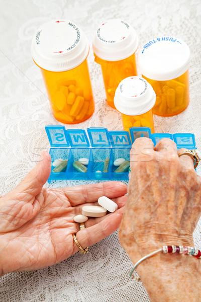 Sorting Pills Stock photo © lisafx