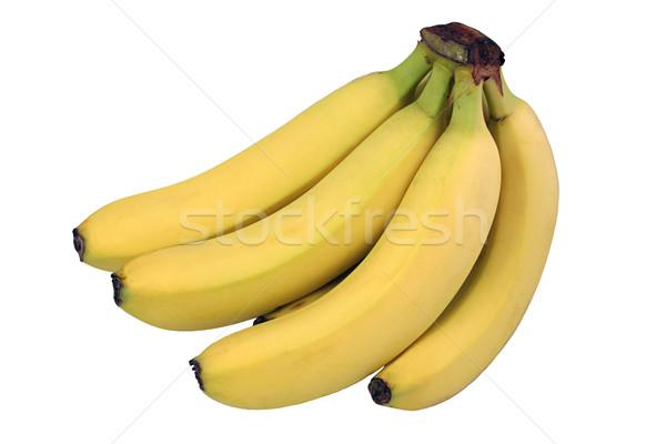 Perfect bananen geïsoleerd vlekkeloos bos witte Stockfoto © lisafx