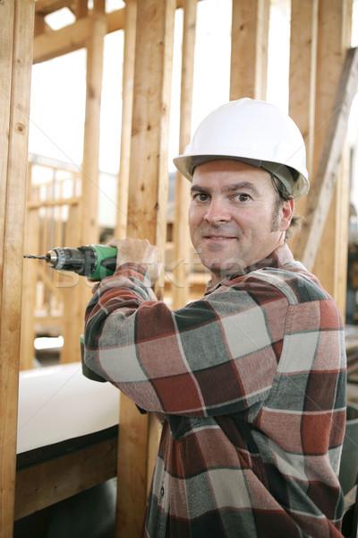 Carpenter on Construction Site Stock photo © lisafx